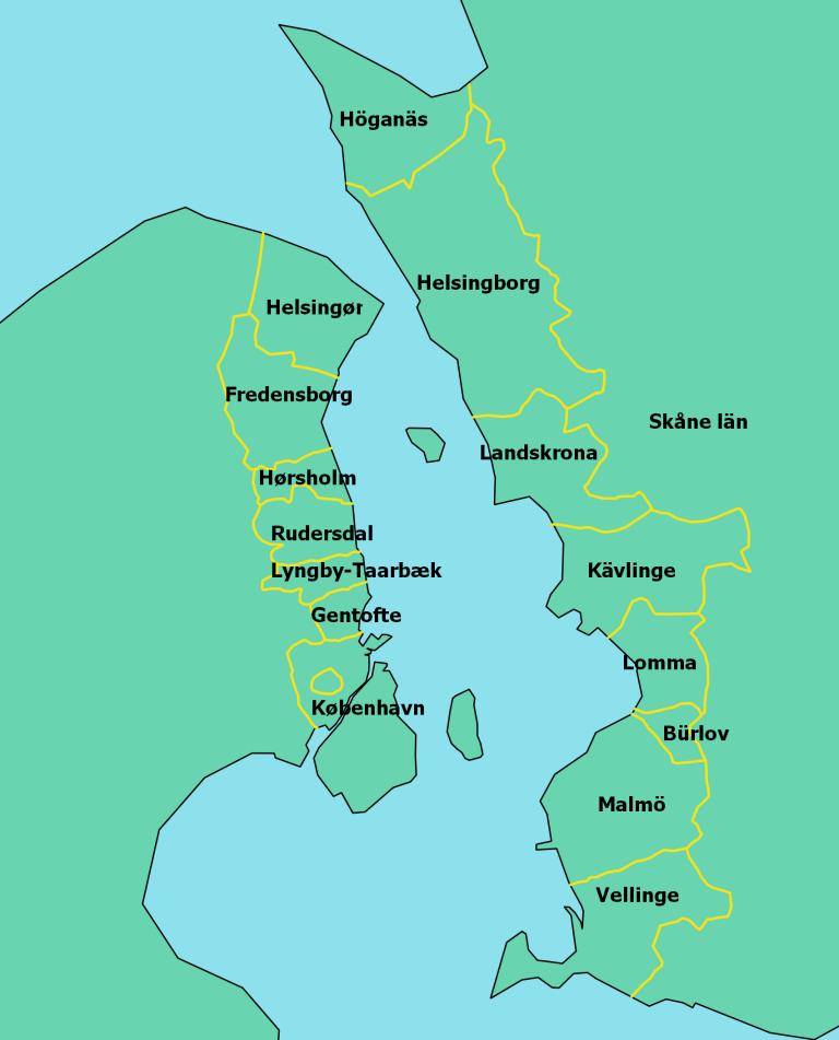 Karta medlemskommuner